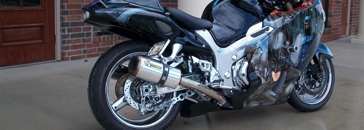 Custom Paint Job For Motorcycle Helmets
