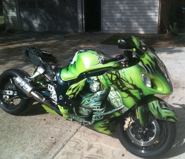 Airbrush Innovation Custom Motorcycle Paint